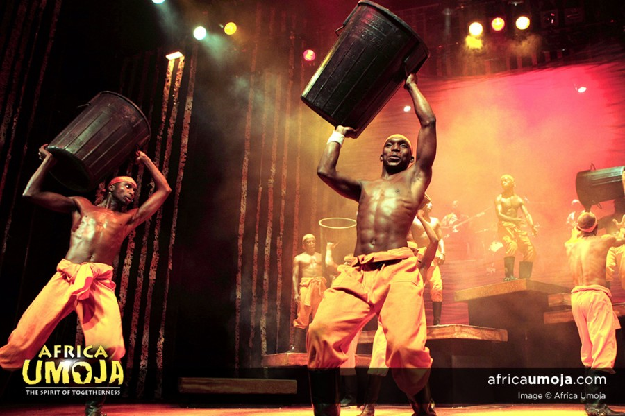 Gumboot dancers in South African show - Africa Umoja