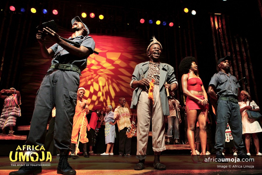 Dompass Scene in Africa Umoja, South African Musical