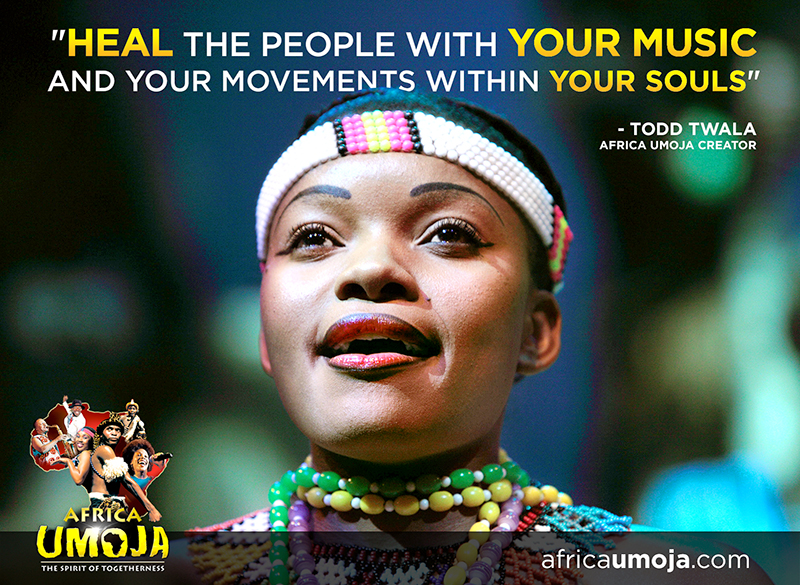 Todd Twala, Africa Umoja Message to cast
