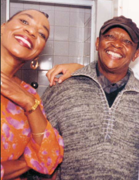 Africa Umoja's Todd and Hugh Masekela.