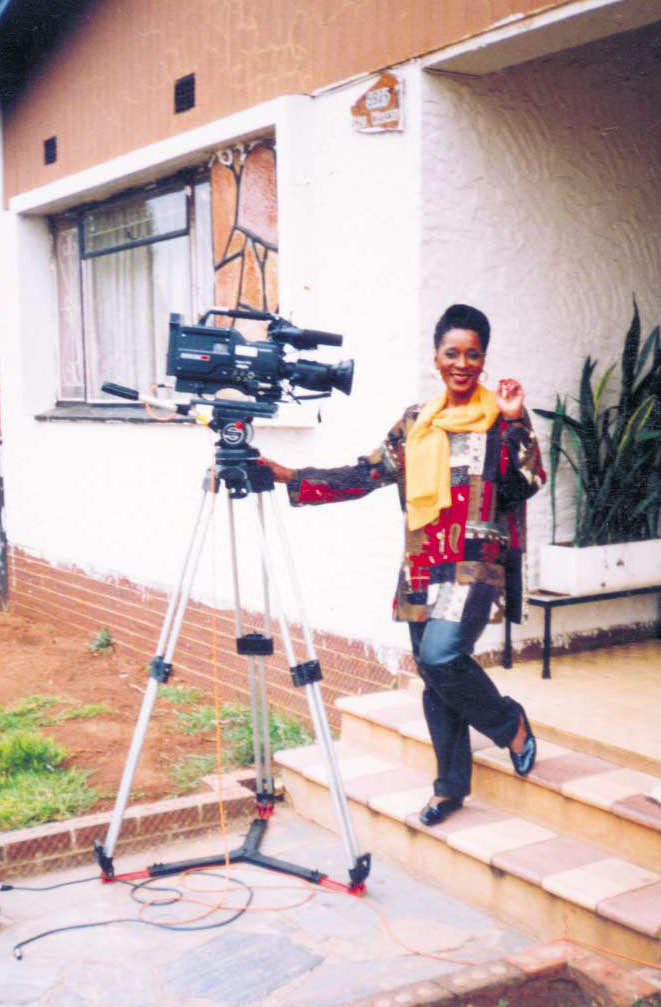 Thembi feeling at home in front of the cameras