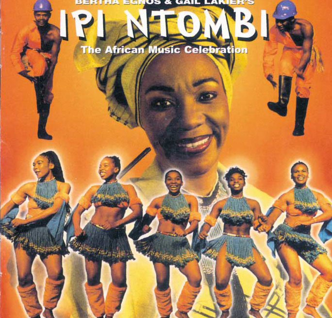 Africa umoja's Todd on the cover of the Ipi Ntombi soundtrack. Todd later became the choreographer for the show.